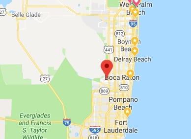 Image of google map Boca Raton